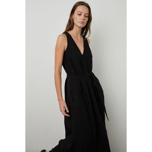 Velvet by Graham & Spencer Acadia Woven Linen Dress | Black