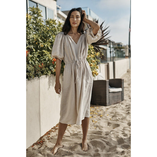 Velvet by Graham & Spencer Suzanna Woven Linen Dress | Sand