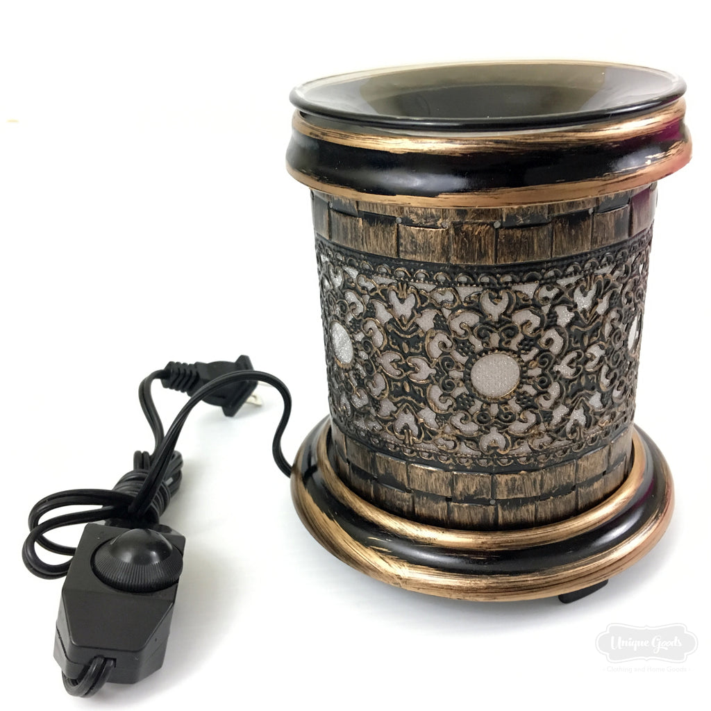 New Wooden Burner Electric Oil Warmer Aroma Fragrance Lamp Night Wiring A With Light Unique Goods