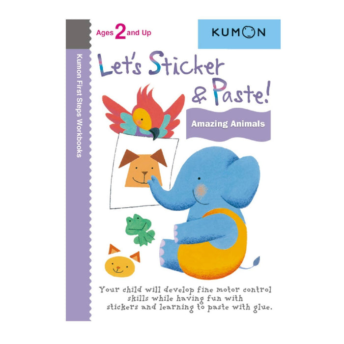 KUMON Let's Sticker and Paste! Amazing Animals