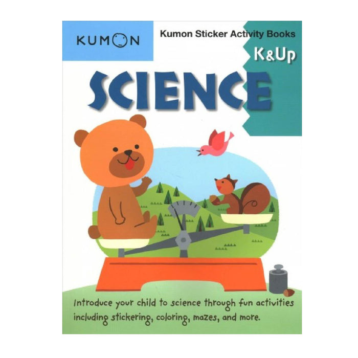 KUMON Science K & Up Sticker Activity Book