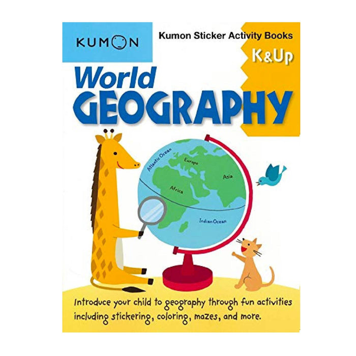 KUMON World Geography K & Up Sticker Activity Book