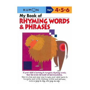 KUMON My Book of Rhyming Words & Phrases
