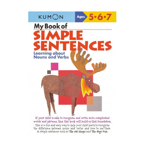 KUMON My Book of Simple Sentences: Nouns & Verbs