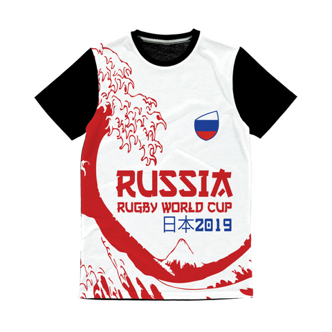 Mens - Russia - 'Great Wave' Panel T-Shirt