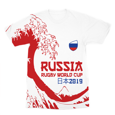 Mens - Russia - 'Great Wave' Premium T-Shirt
