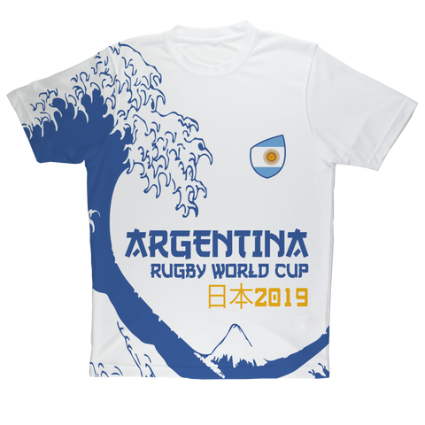 Ladies - Argentina - 'Great Wave' Performance T-Shirt