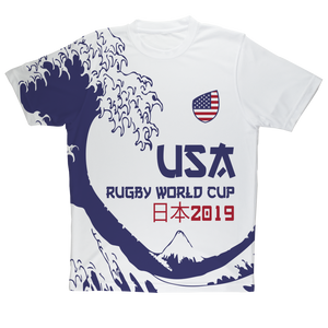 Mens - USA - 'Great Wave' Performance T-Shirt