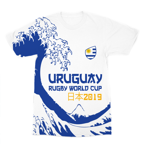 Mens - Uruguay - 'Great Wave' Premium T-Shirt