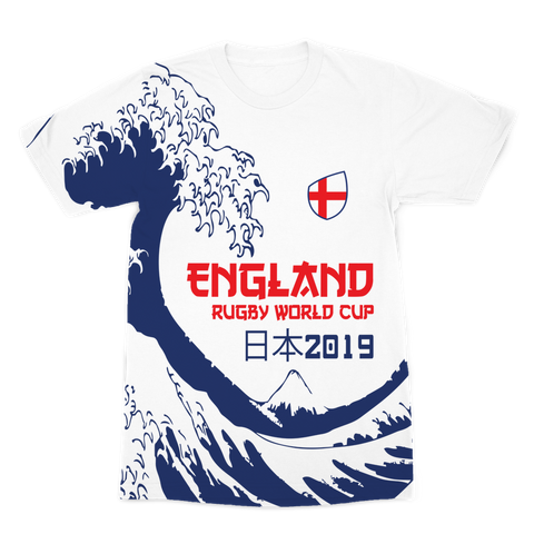 Mens - England - 'Great Wave' Premium T-Shirt