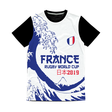 Ladies - France - 'Great Wave' Panel T-Shirt