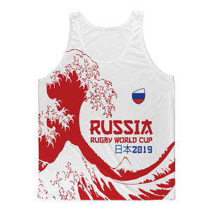 Mens - Russia - 'Great Wave' Mens Athlete Vest