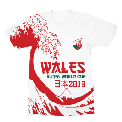 Ladies - Wales - 'Great Wave' Premium T-Shirt