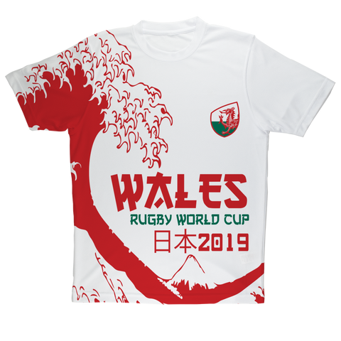 Ladies - Wales - 'Great Wave' Performance T-Shirt