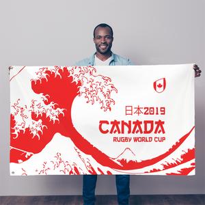 'Great Wave' - Canada Sublimation Flag