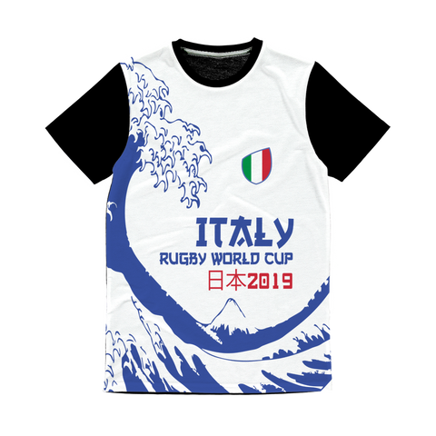 Mens - Italy - 'Great Wave' Panel T-Shirt
