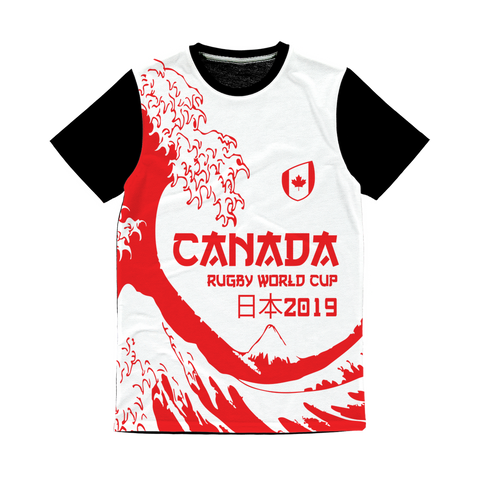 Mens - Canada - 'Great Wave' Panel T-Shirt