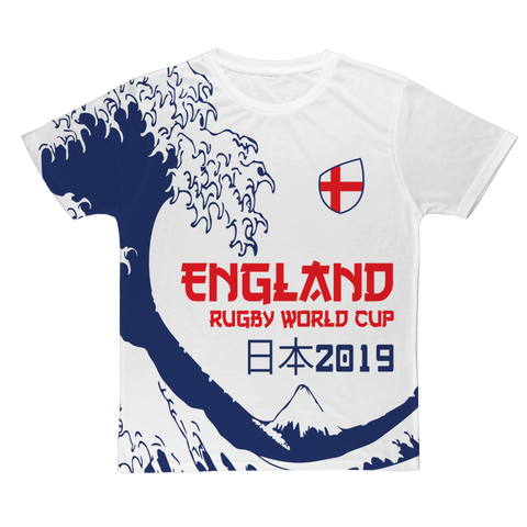 Mens - England - 'Great Wave' T-Shirt