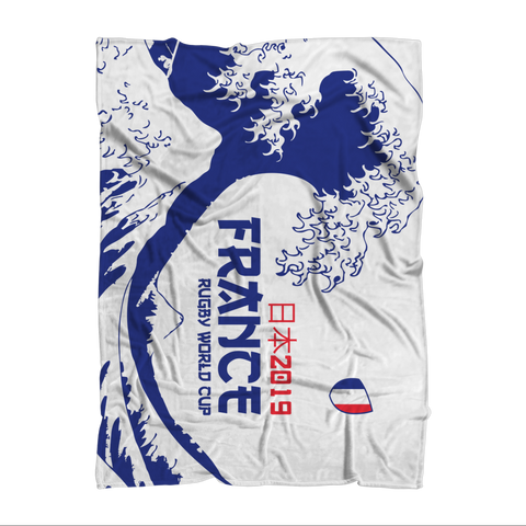 'Great Wave' - France Throw Blanket