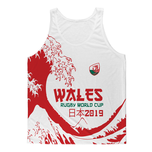 Ladies - Wales - 'Great Wave' Athlete Vest