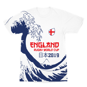 Ladies - England - 'Great Wave' Premium T-Shirt