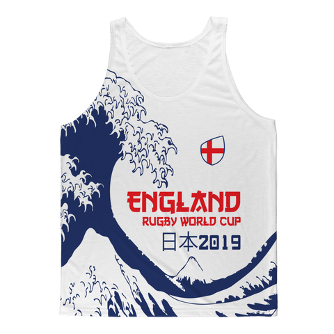 Ladies - England - 'Great Wave' Athlete Vest