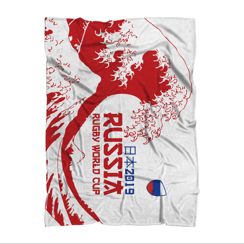 'Great Wave' - Russia Throw Blanket