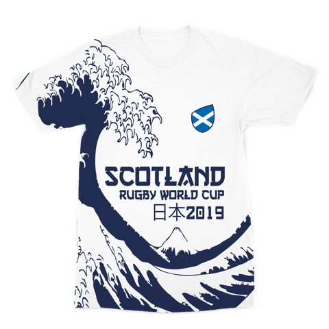 Ladies - Scotland - 'Great Wave' Premium T-Shirt