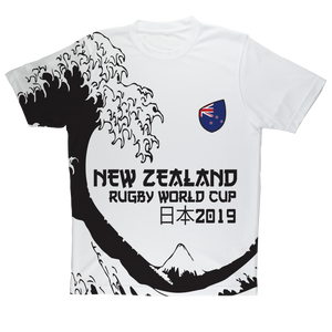 Ladies - New Zealand - 'Great Wave' Performance T-Shirt