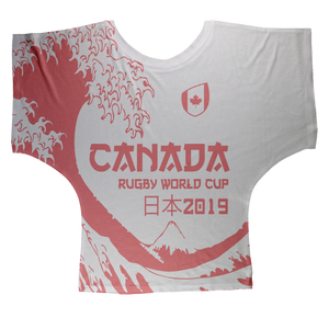 Ladies - Canada - 'Great Wave' Draped T-Shirt