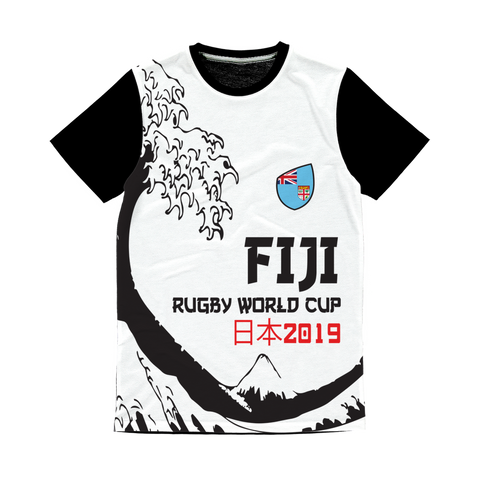 Mens - Fiji - 'Great Wave' Panel T-Shirt