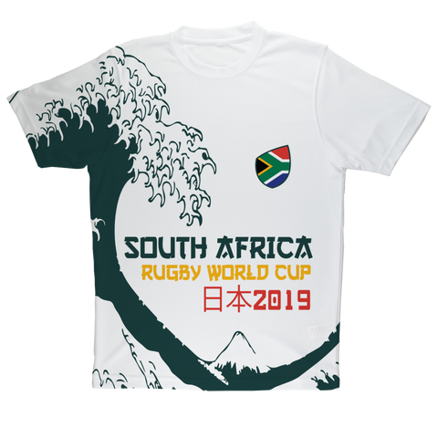 Mens - South Africa - 'Great Wave' Performance T-Shirt