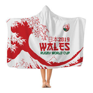 'Great Wave' - Wales Hooded Blanket