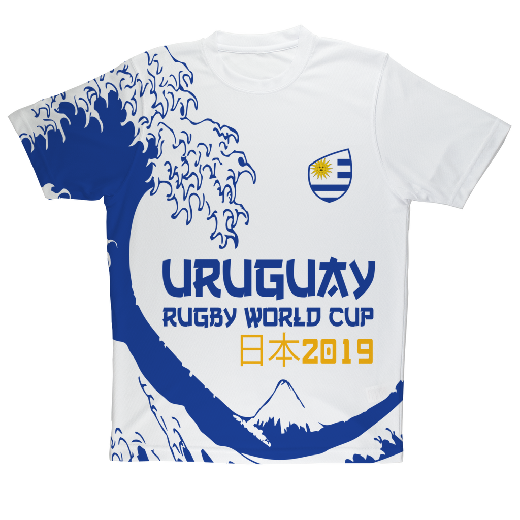 Mens - Uruguay - 'Great Wave' Performance T-Shirt