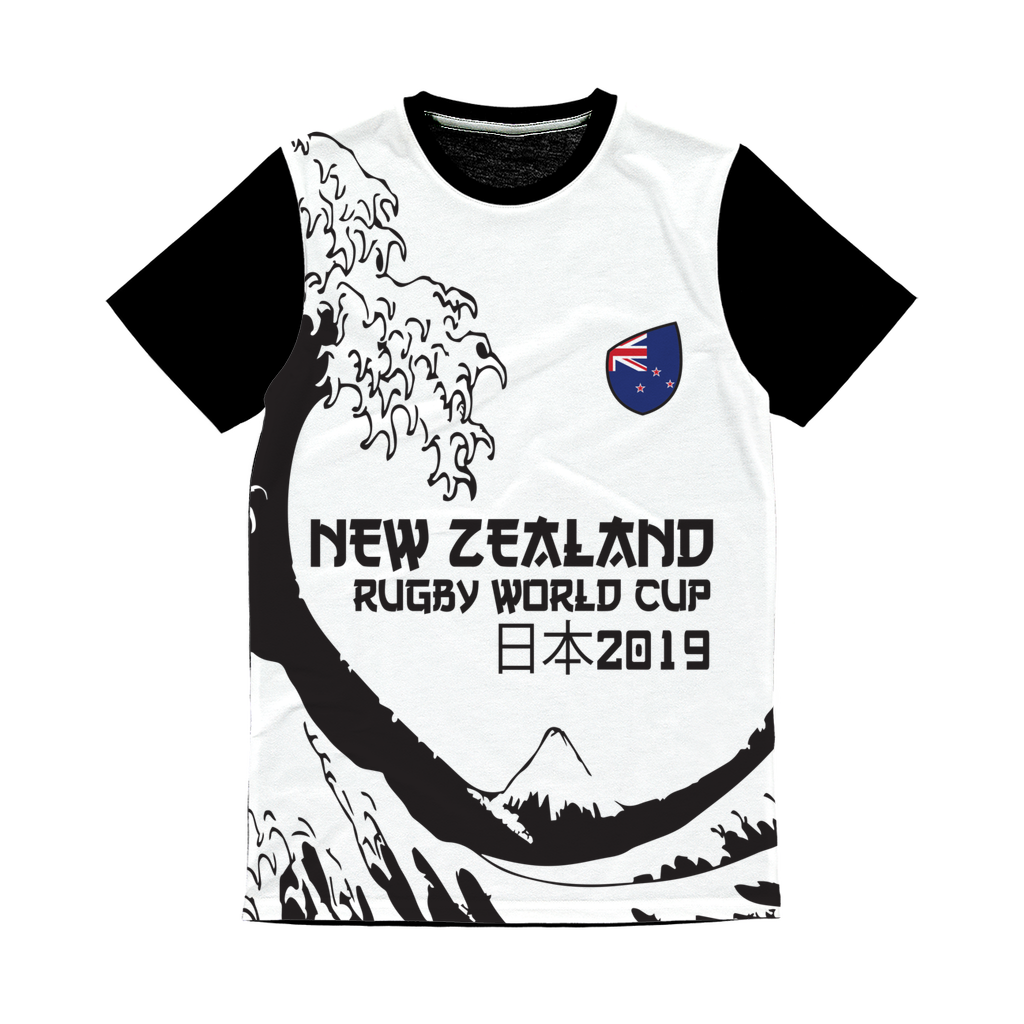 Ladies - New Zealand - 'Great Wave' Panel T-Shirt