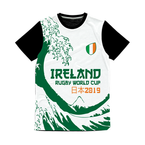 Mens - Ireland - 'Great Wave' Panel T-Shirt