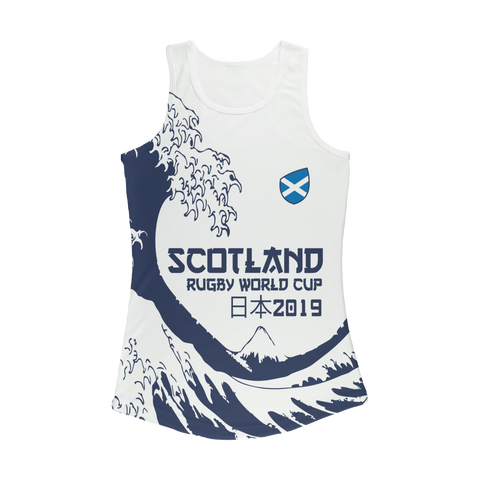 Ladies - Scotland - 'Great Wave' Performance Vest