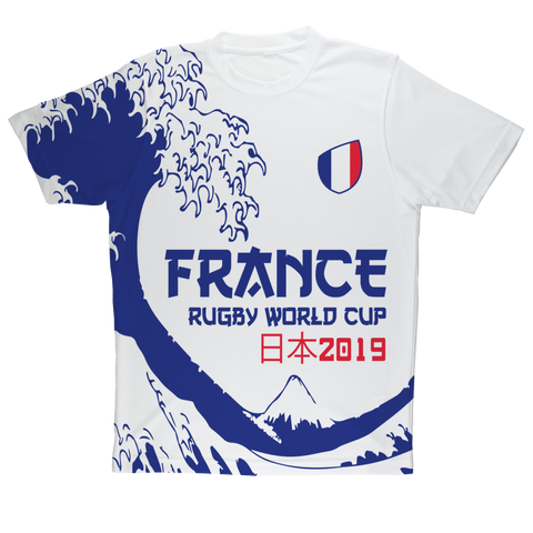 Ladies - France - 'Great Wave' Performance T-Shirt