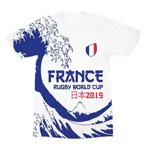 Mens - France - 'Great Wave' Premium T-Shirt