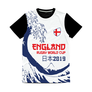 Mens - England - 'Great Wave' Panel T-Shirt