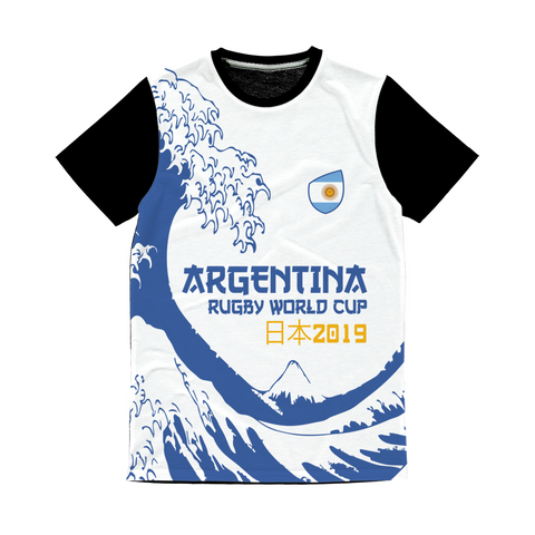 Ladies - Argentina - 'Great Wave' Panel T-Shirt