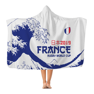'Great Wave' - France Hooded Blanket