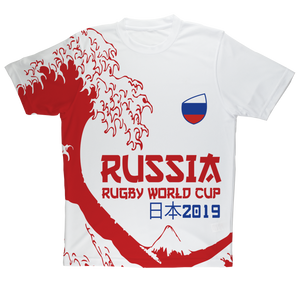 Mens - Russia - 'Great Wave' Performance T-Shirt