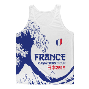 Mens - France - 'Great Wave' Athlete Vest