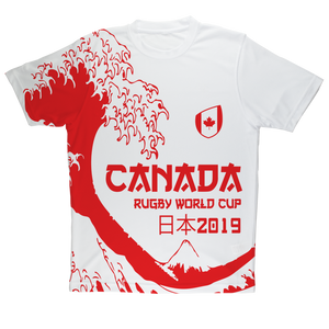 Ladies - Canada - 'Great Wave' Performance T-Shirt