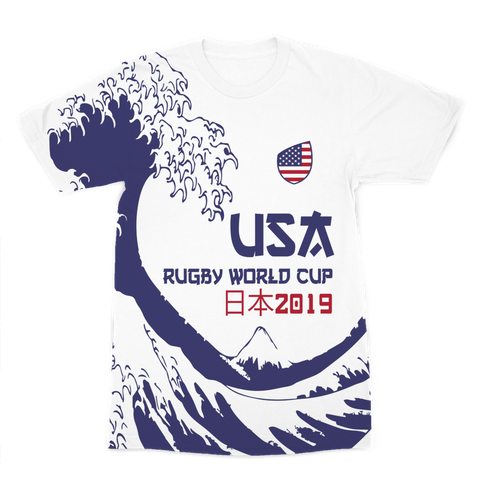 Mens - USA - 'Great Wave' Premium T-Shirt