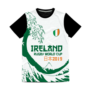 Ladies - Ireland - 'Great Wave' Panel T-Shirt