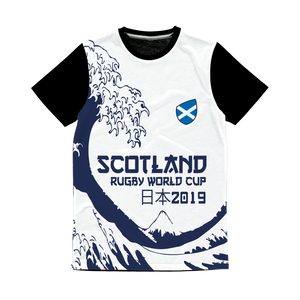Ladies - Scotland - 'Great Wave' Panel T-Shirt