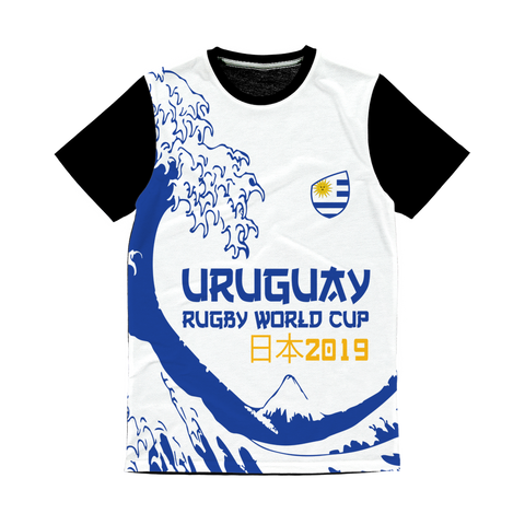 Mens - Uruguay - 'Great Wave' Panel T-Shirt