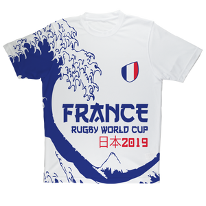 Mens - France - 'Great Wave' Performance T-Shirt